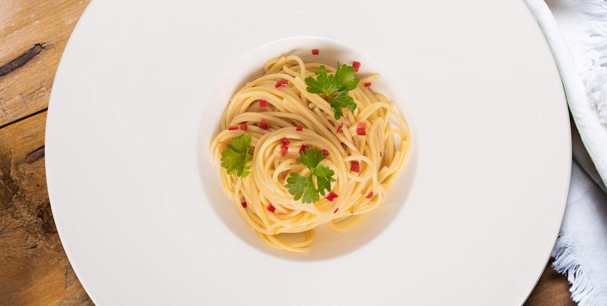 Спагеті аліо оліо