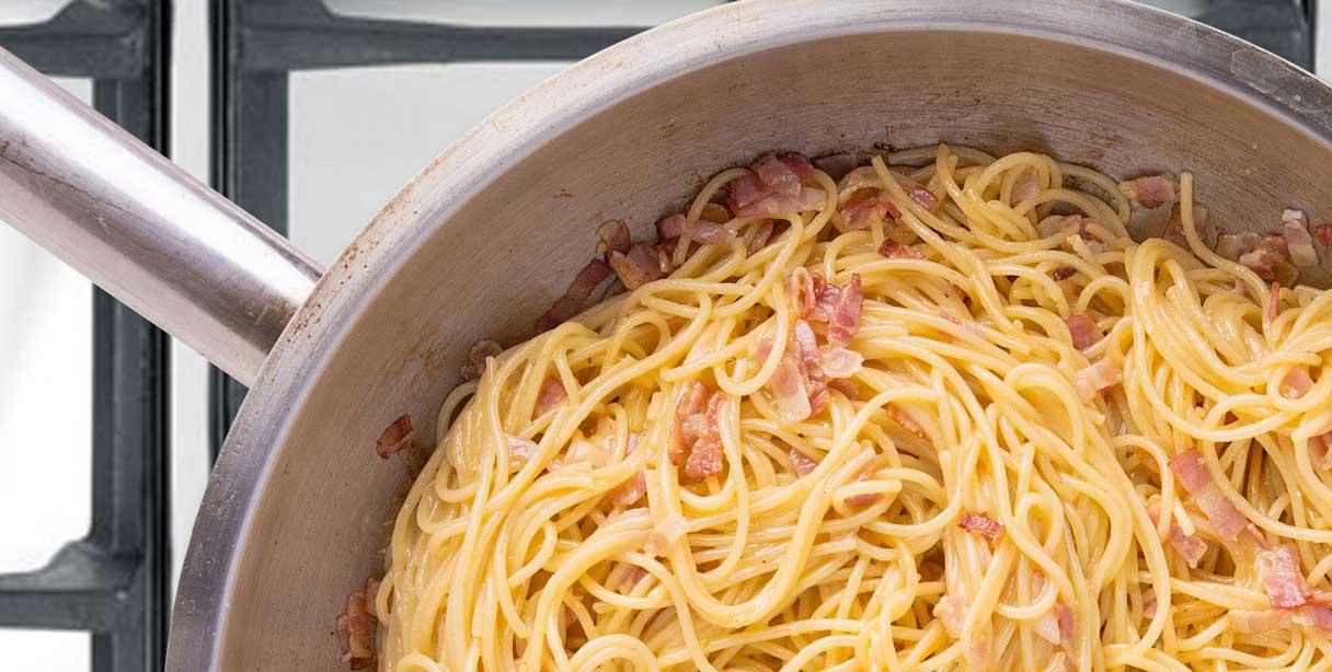Паста Спагеті Карбонара, приготування